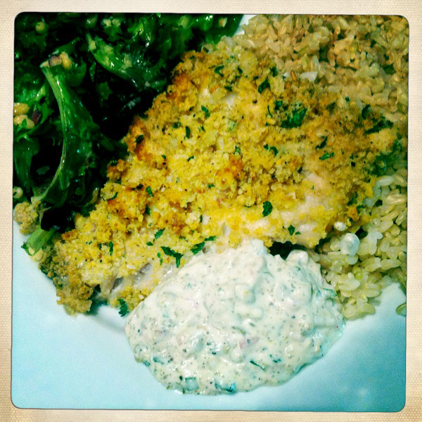 Crunchy breaded oven baked fish wild fresh tasty for Breaded fish in oven
